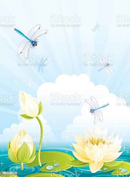 Dragonflies and water lilies with clouds vector id96420519?b=1&k=6&m=96420519&s=612x612&h=hqomcvrmxpmenx9ffb2tsi gxuhcoua4qyiqmn3dwxo=