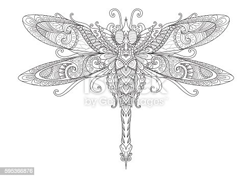 Dragonfly Coloring Book Stock Vector Art More Images Of