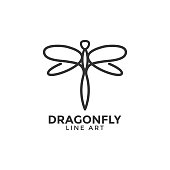Dragonfly graphic design template vector