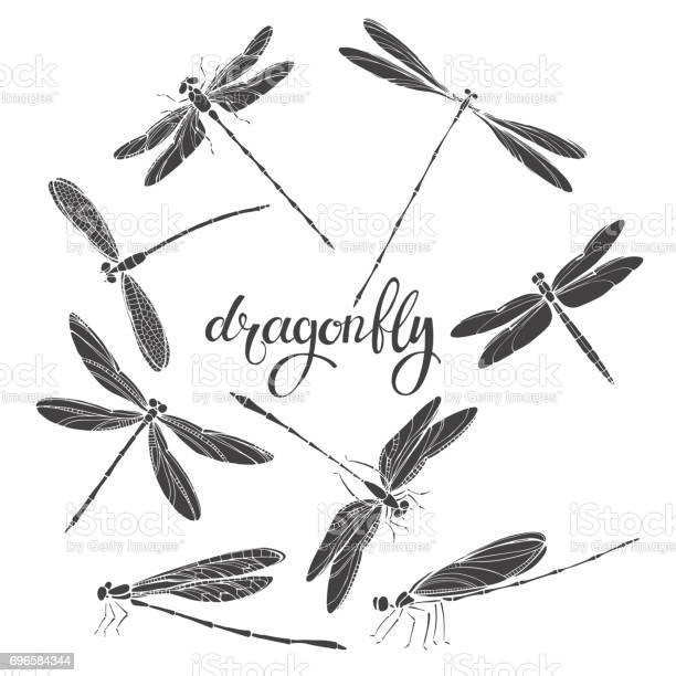 Dragonfly silhouettes vector illustration on white background for vector id696584344?b=1&k=6&m=696584344&s=612x612&h= 2pslkigb7eb0d3vzj9pkx3huug  yx0kepg9payx9s=