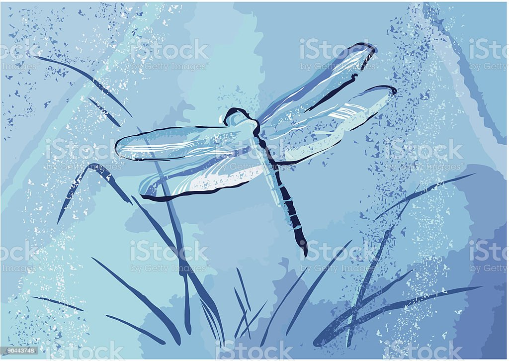 Dragonfly - Royalty-free Bespatterd vectorkunst