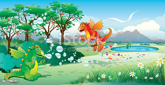 Dragons Bubbles and Sweets
