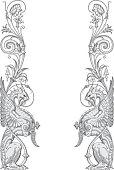 Dragons Frame Vector