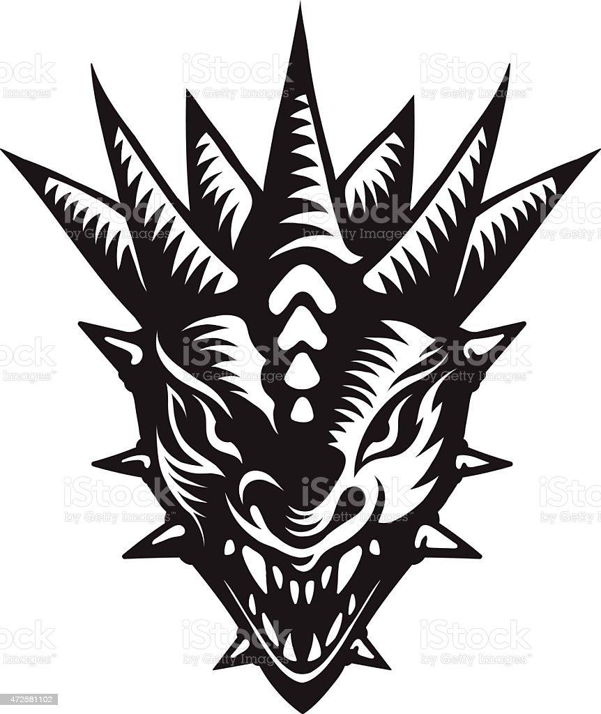 Cabezas De Dragones Para Tatuar ilustración de dragones tatuaje cabeza y más vectores libres