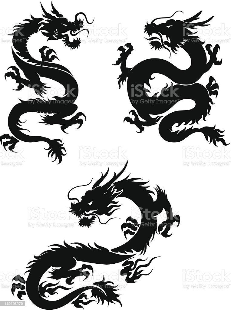 Dragons royalty-free stock vector art