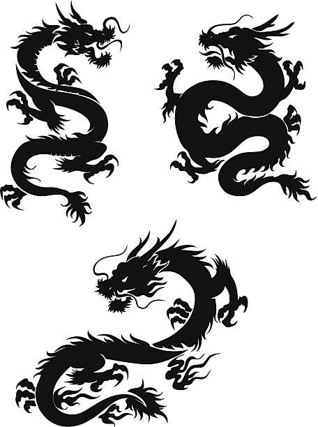 illustrations, cliparts, dessins animés et icônes de dragons - dragon