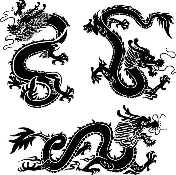 dragons - dragon stock illustrations, clip art, cartoons, & icons