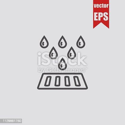 Drain system icon.Vector illustration.