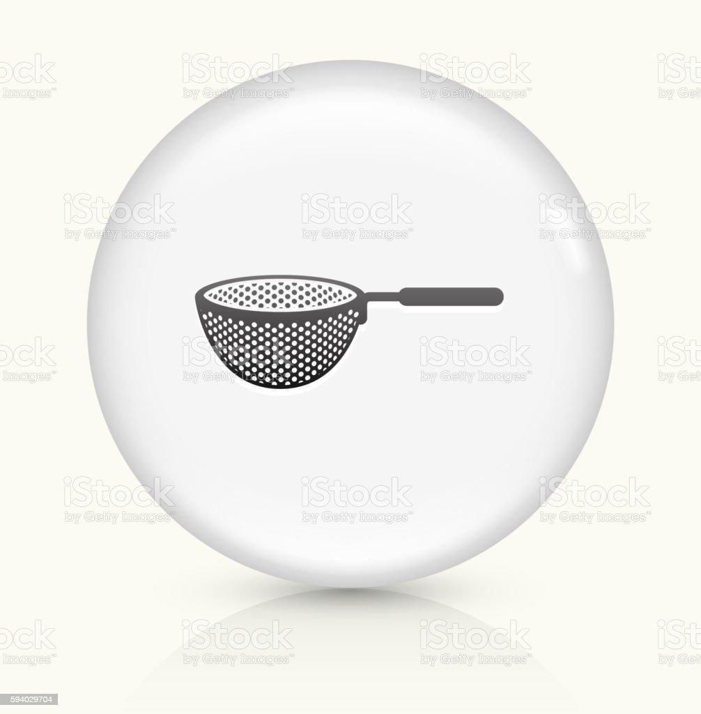 Drainer icon on white round vector button vector art illustration