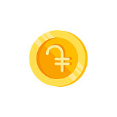 Dram, coin, money color icon. Element of color finance signs. Premium quality graphic design icon. Signs and symbols collection icon for websites, web design
