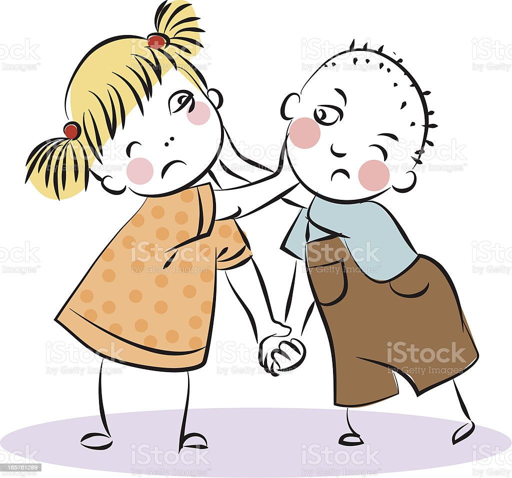 Royalty Free Siblings Fighting Clip Art, Vector Images