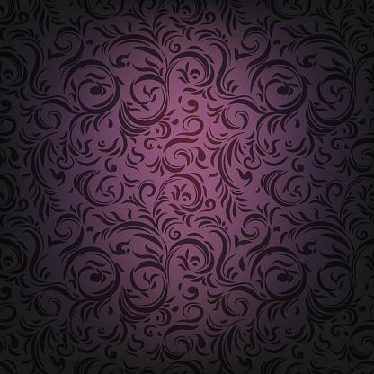 Drama violet ornament