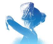 Dramatic woman dancing