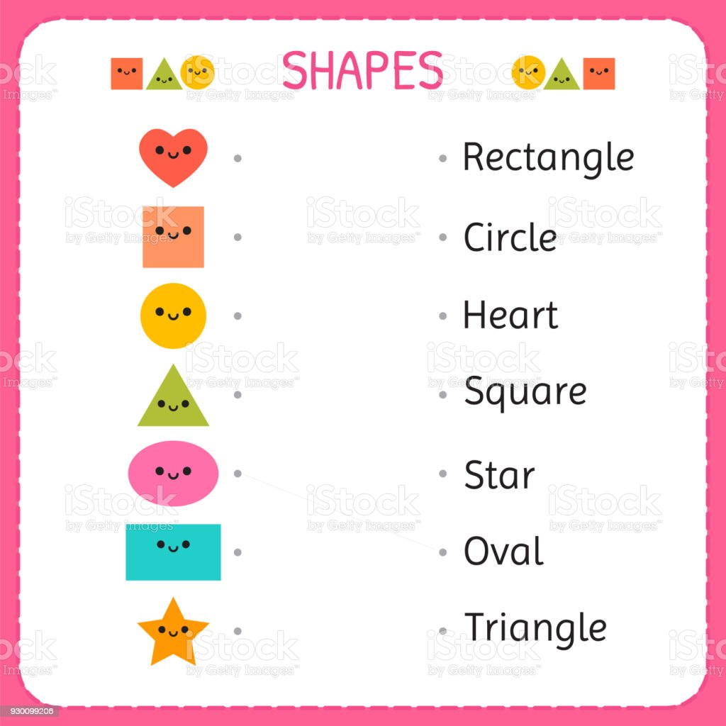 Zeichnen Sie Eine Linie Verbinden Jede Figur Mit Seiner Beschreibung ...