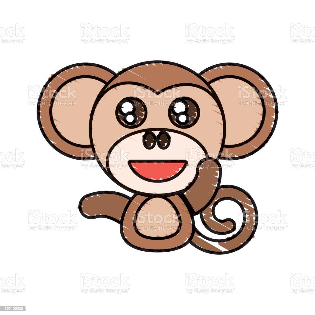 Draw Monkey Animal Comic Stock Vector Art More Images Of Animal