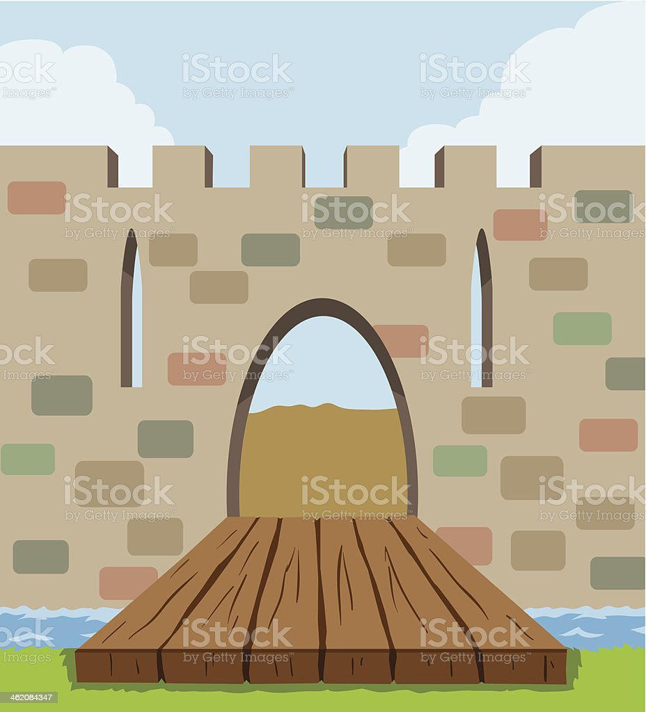 Drawbridge Icon royalty-free stock vector art