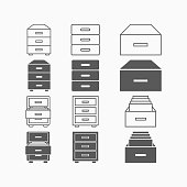 istock drawer icon, tray vector 1224035121