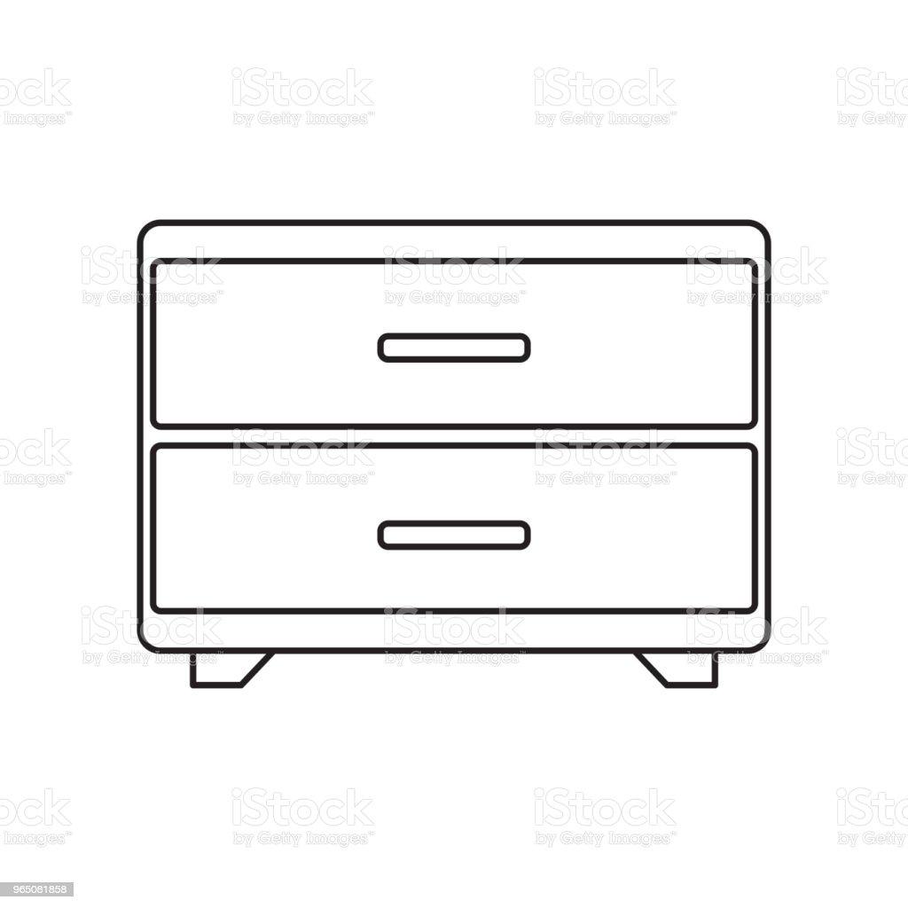 drawer line icon drawer line icon - stockowe grafiki wektorowe i więcej obrazów abstrakcja royalty-free