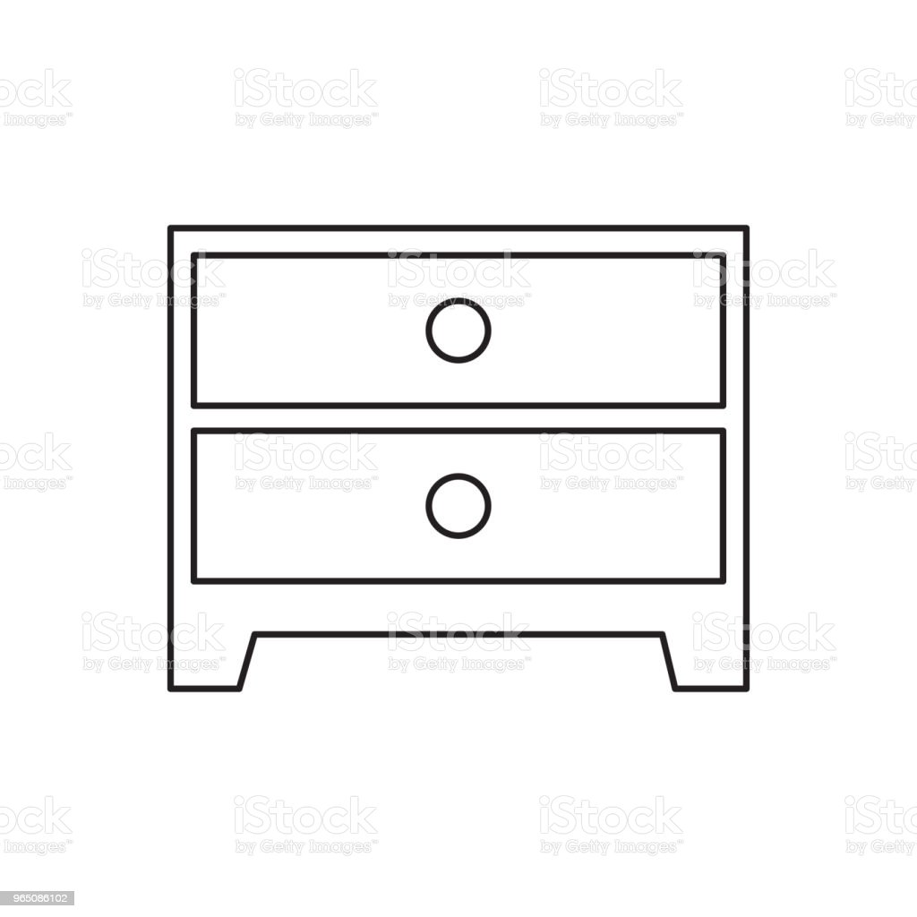 drawer line icon royalty-free drawer line icon stock vector art & more images of abstract