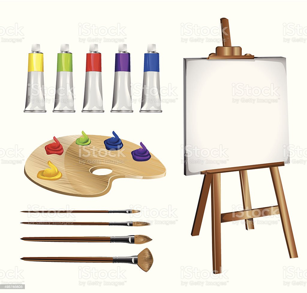 Drawing accessories royalty-free stock vector art