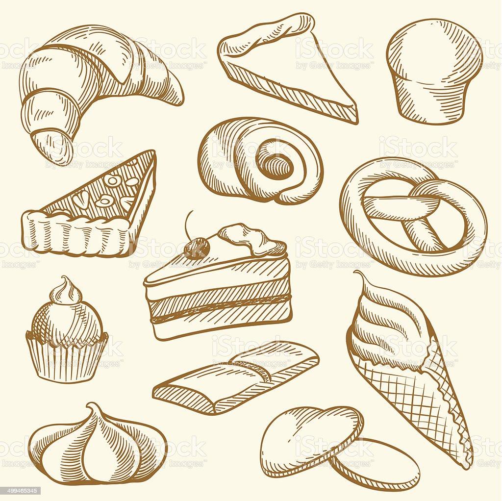 Drawing Bakery royalty-free stock vector art