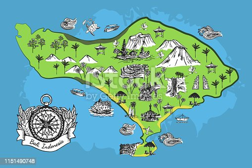 Bali Map Vector For Free Ai Svg And Eps