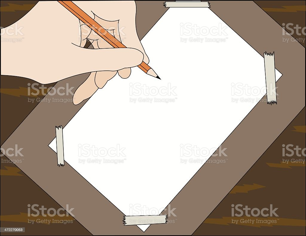 Drawing Board royalty-free drawing board stock vector art & more images of adhesive tape