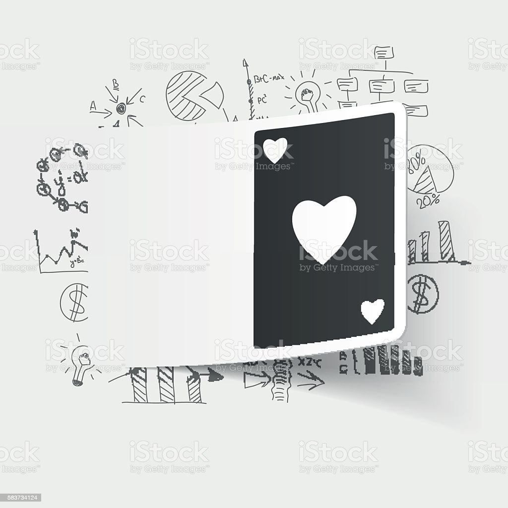 drawing business formulas. playing card vector art illustration