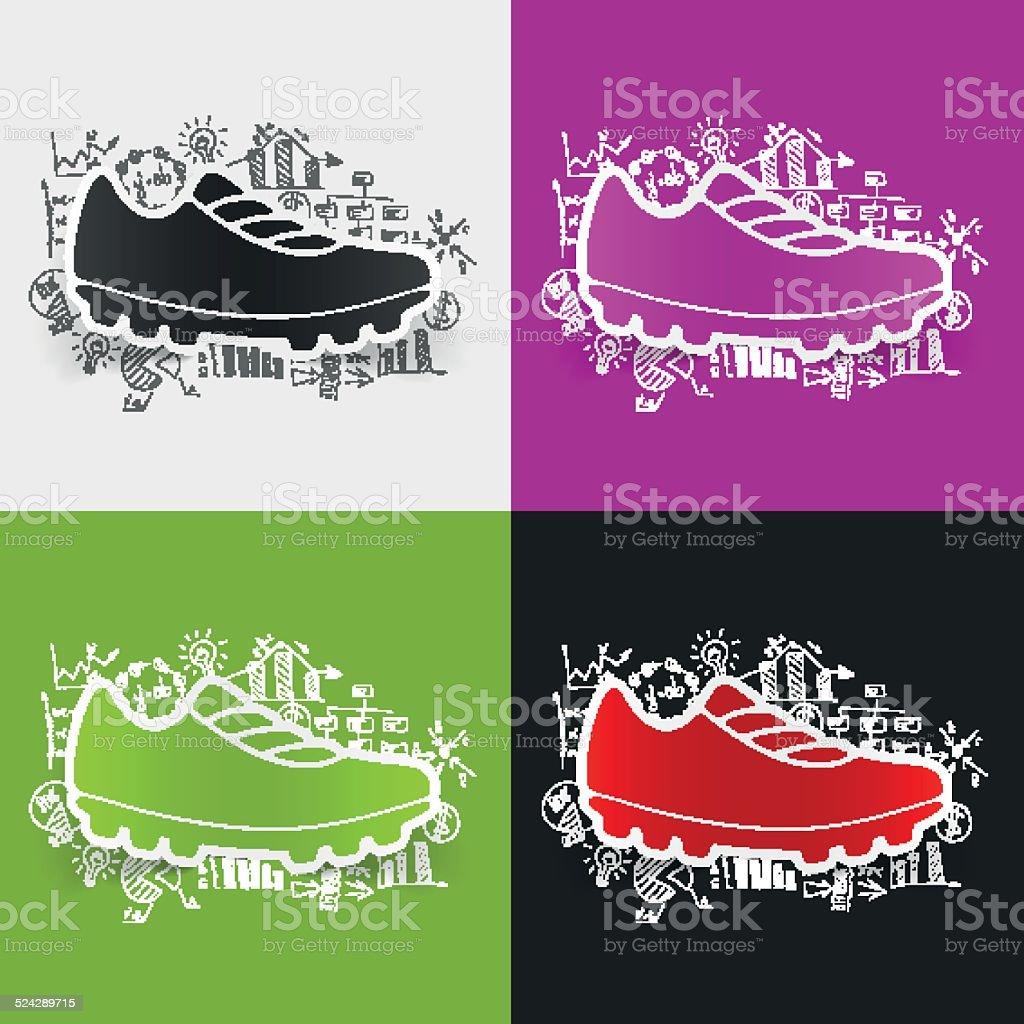 8ad2345e553b54 Drawing business formulas  sneakers royalty-free drawing business formulas  sneakers stock vector art  amp
