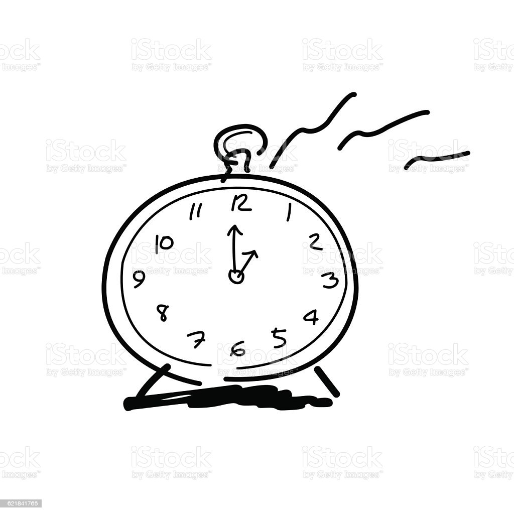 drawing by hands clock icon 1 oclock stock vector art more images rh istockphoto com 6 Pm Clock Thinking Clip Art