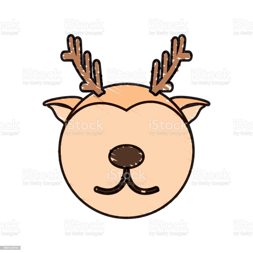 Dessin Cerf Visage Animal Cliparts Vectoriels Et Plus D Images De