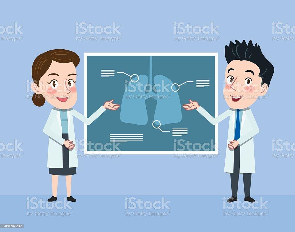 Ilustración diseño plano de carácter médico concepto de ilustración vectorial - ilustración de arte vectorial