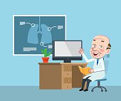 Drawing flat character design medical doctor concept ,vector illustration