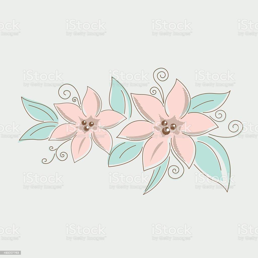 Zeichnung Blumen Blumenstrauß Stock Vektor Art Und Mehr Bilder Von