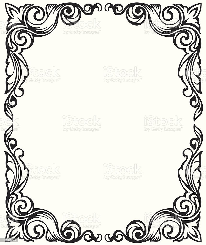 Drawing Frame Ornament Stock Vector Art & More Images of Abstract ...