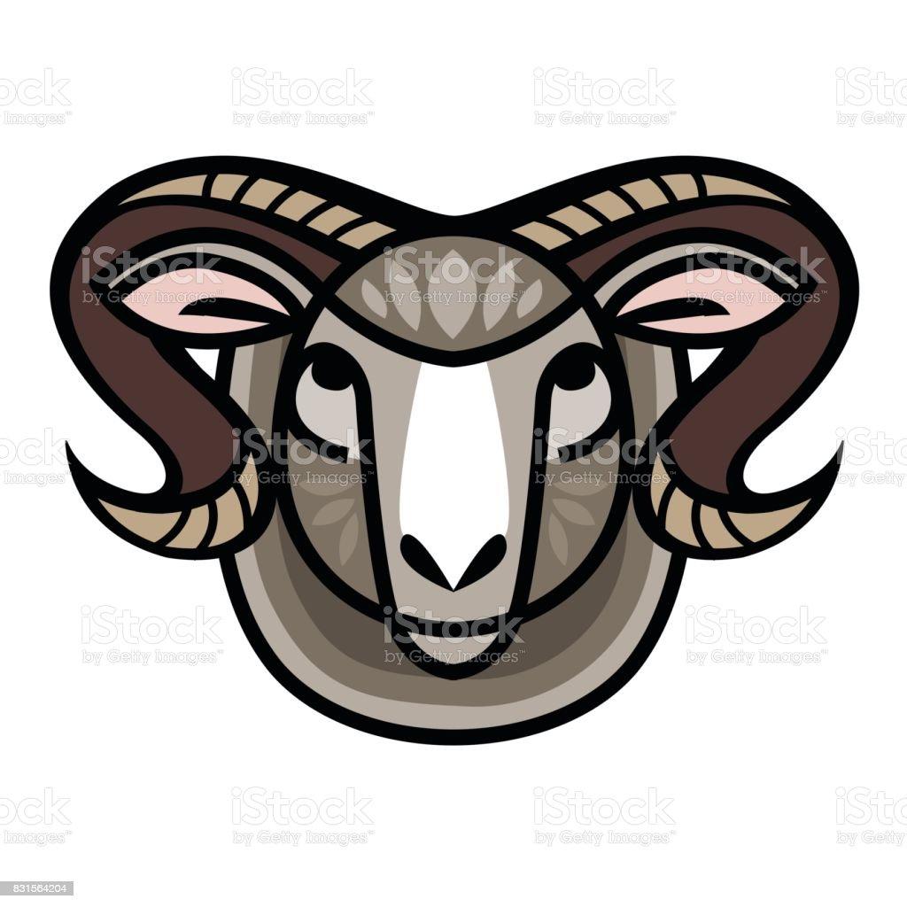 drawing head of ram stock vector art 831564204 istock