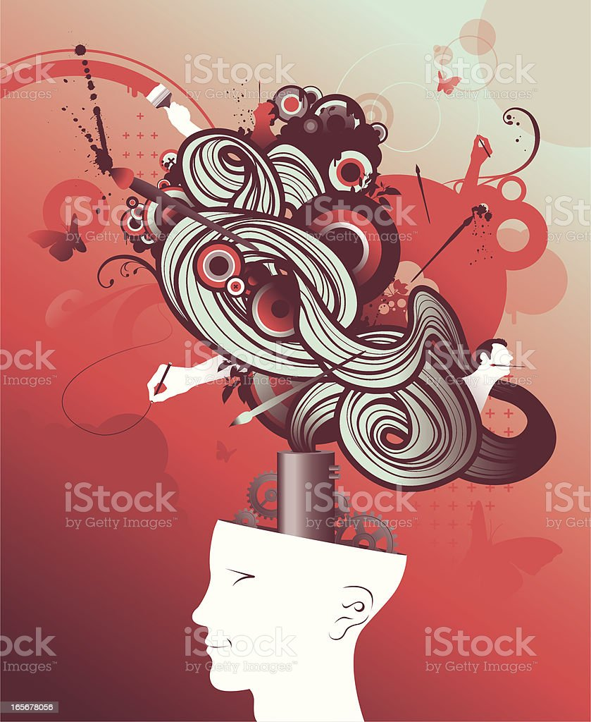 drawing head royalty-free stock vector art