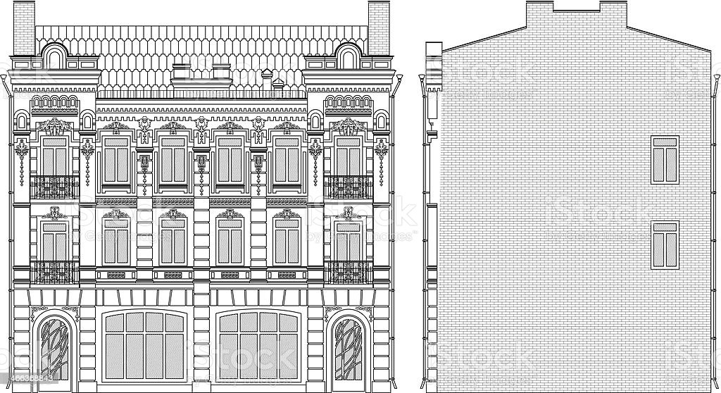 drawing house royalty-free stock vector art