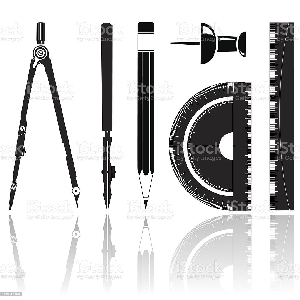 drawing instrument royalty-free stock vector art