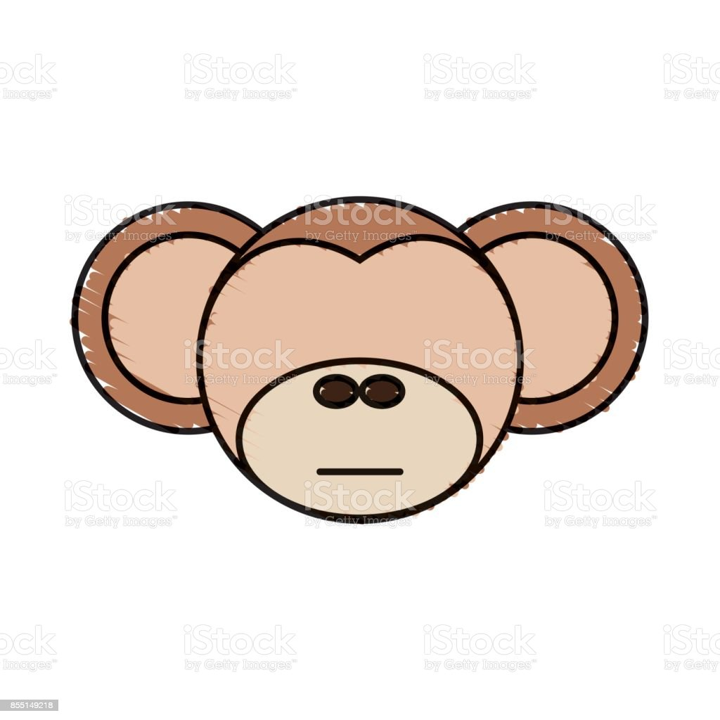 Drawing Monkey Face Animal Stock Vector Art More Images Of Animal