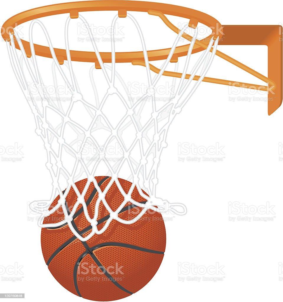 Basketball hoop und ball – Vektorgrafik