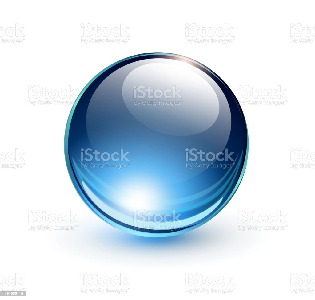 Drawing of a blue sphere on a white background royalty-free drawing of a blue sphere on a white background stock vector art & more images of abstract