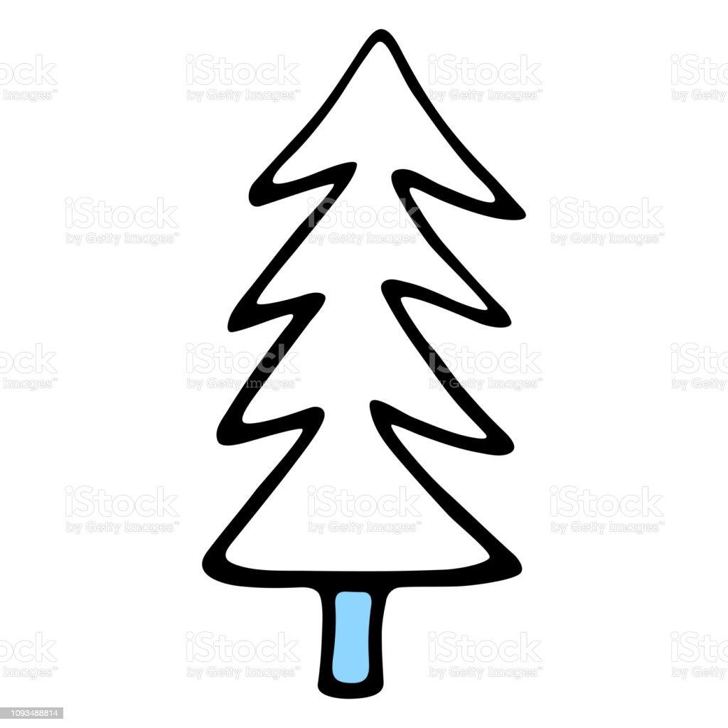 zeichnung von einem weihnachtsbaum fichte oder tanne von. Black Bedroom Furniture Sets. Home Design Ideas