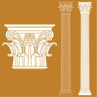 the vector illustration of corinthian column