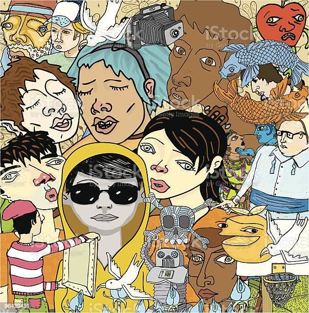 Ilustración de Variedad De Garabatos Dibujos Personas y más Vectores Libres de Derechos de Adolescencia