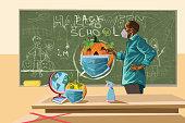 Halloween at school during coronavirus pandemic