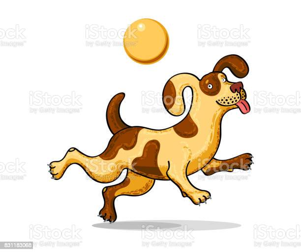 Drawing of a jumping merry dog with a ball color vector isolated on vector id831183068?b=1&k=6&m=831183068&s=612x612&h=xwe khccwiqlcpvv4bphenvzifv3zquemh8swgxm ee=