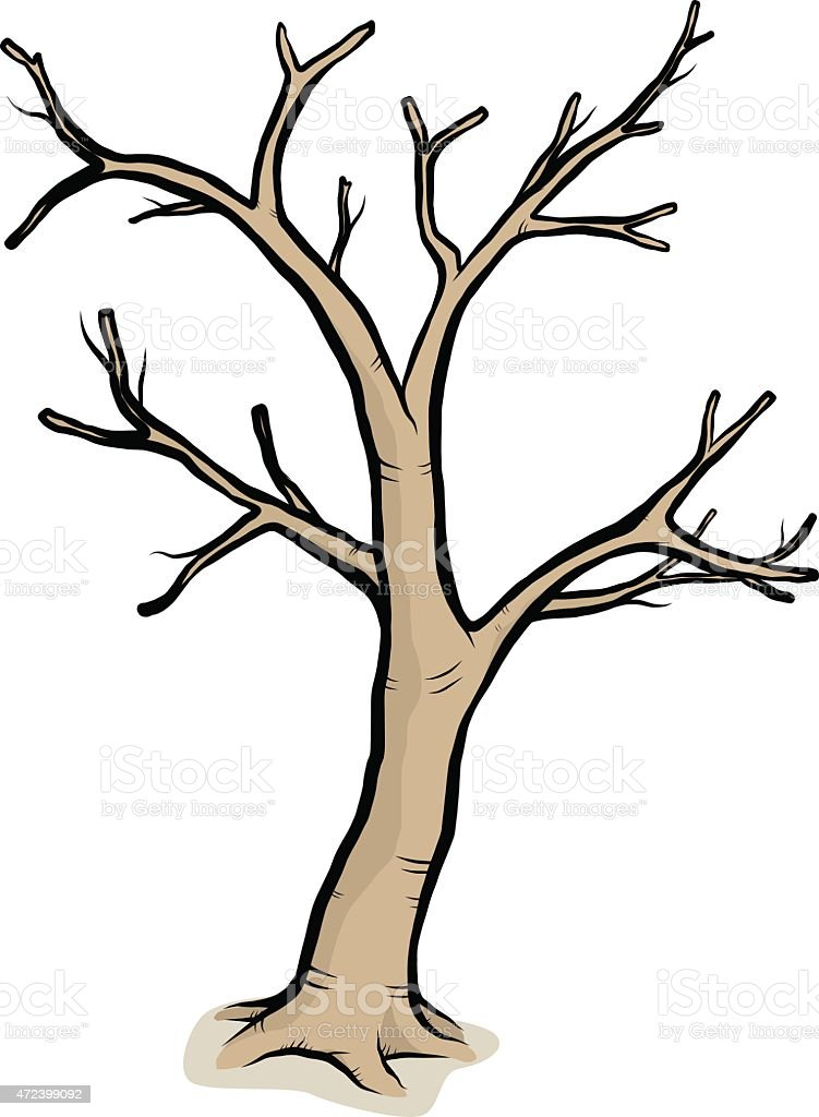 a drawing of a tree with bare branches stock vector art more rh istockphoto com bare tree clipart images bare christmas tree clip art