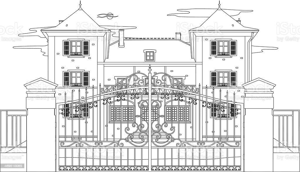 Dessin Dune Belle Maison – Cliparts Vectoriels Et Plus D'Images De