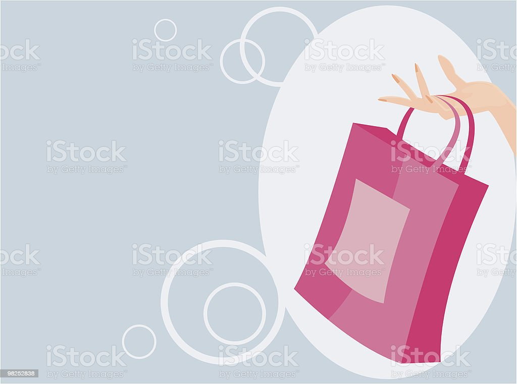 Drawing of a woman holding a pink handbag royalty-free drawing of a woman holding a pink handbag stock vector art & more images of adult
